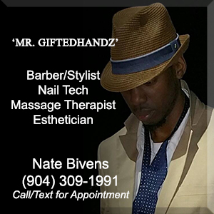 Nathaniel Bivens, Barber, Esthetician, Massage Therapist, Nail tech